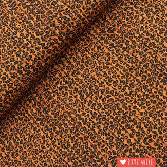 Viscose Plissé look Leopard