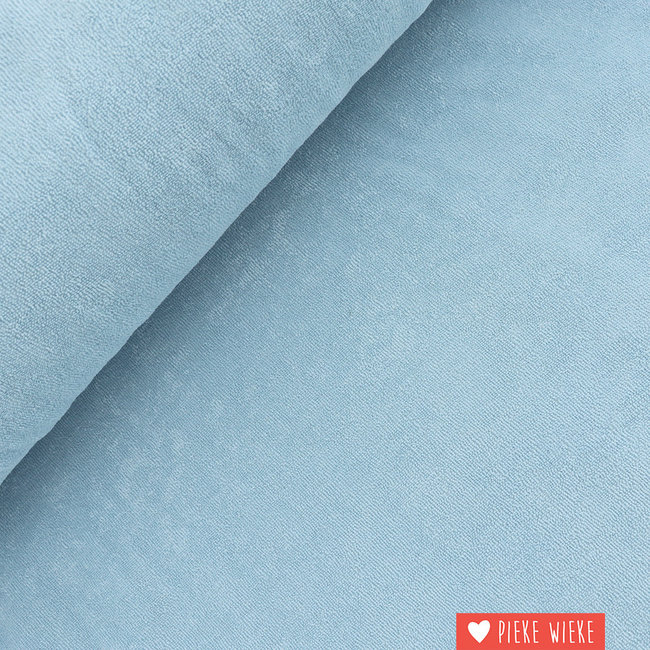 About Blue Fabrics Terry cloth - uni Casmere blue