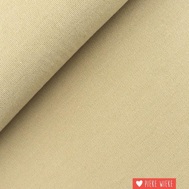 Viscose tricot sparkling Licht goud