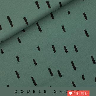 See You at Six Double gauze swipes Sagebrush green