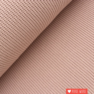 Heavy knitted cotton blend Old pink