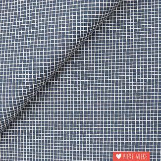 Cotton Crisscross Dark Blue