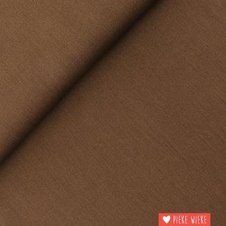 Uni cotton GOTS Brown