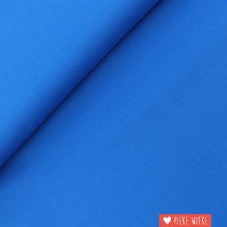 Uni katoen GOTS Kobalt blauw