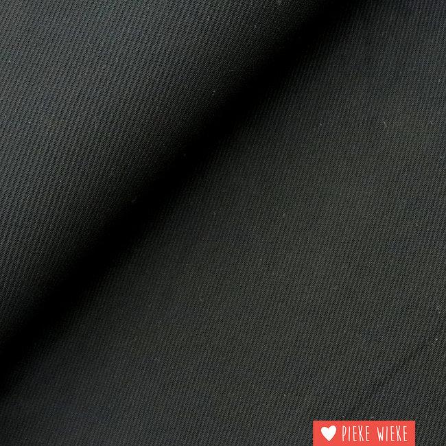 Viscose jersey twill Black