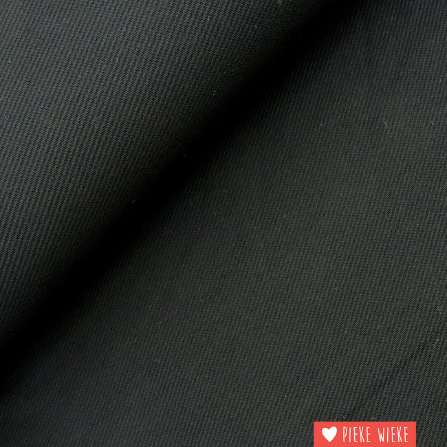 Viscose tricot twill Black