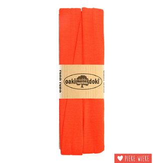 Elastische biais tricot Oranje rood