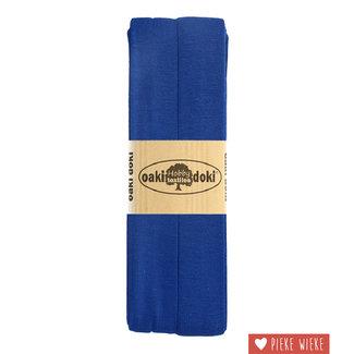 Elastische biais tricot Kobalt blauw