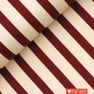 Fibre Mood Striped stretch cotton Maya Red
