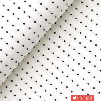 Fibre Mood Stretch cotton Stars White