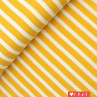 Fibre Mood Viscose crepe Yellow striped