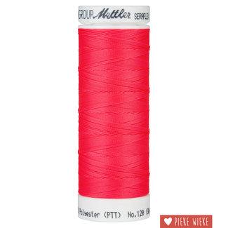 Amann Mettler Seraflex elastisch garen 130m /8775 Fluo Koraal