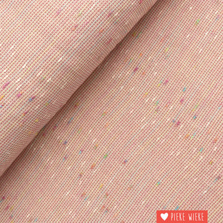 Structuur katoen Roze