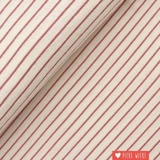 Katia Terry cloth Striped Ecru - Grape