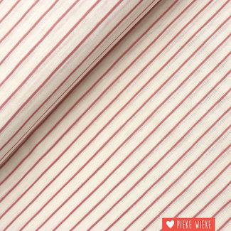 Katia Fine jersey striped Ecru - grape