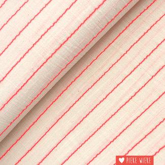 Katia Cotton Sari Striped Fluo Pink