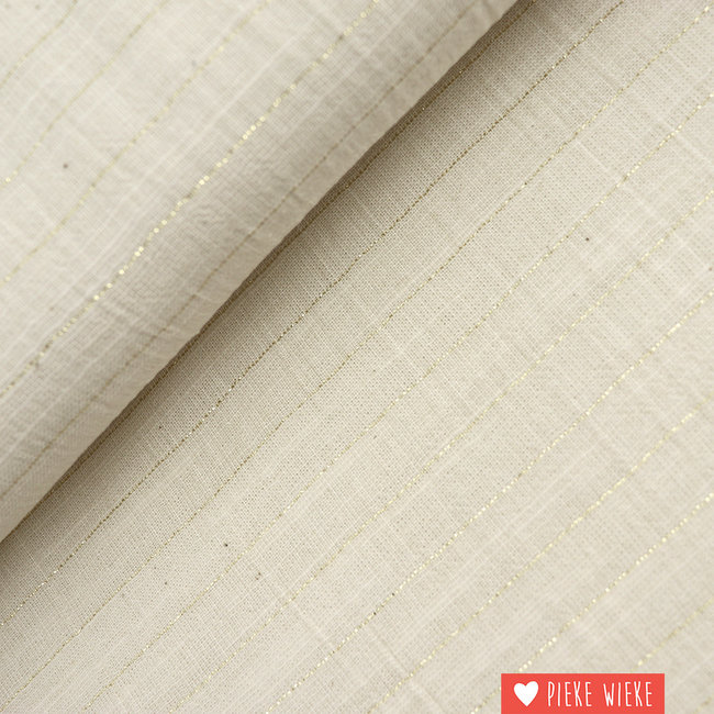 Katia Cotton Sari Striped Ecru Gold