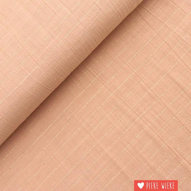 Katia Cotton Sari Striped Pink - Gold