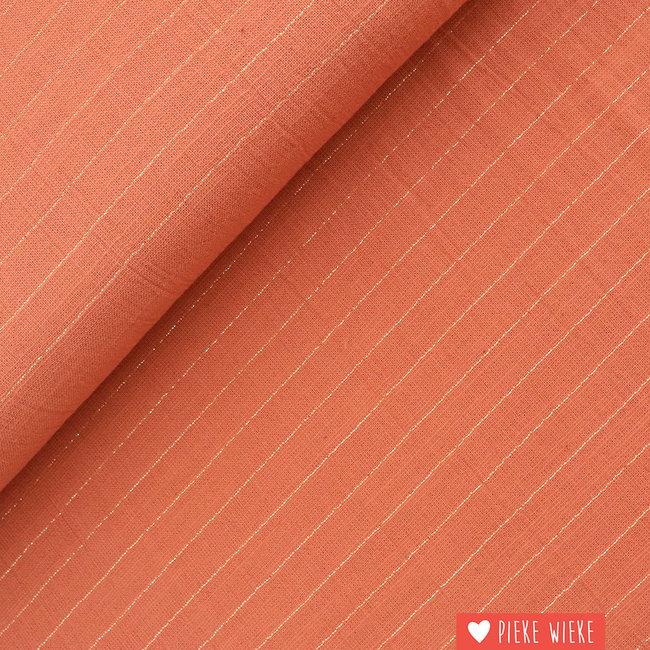Katia Cotton Sari Coral - gold