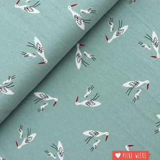 Katia Wrinkle cotton Stork Quartz mint