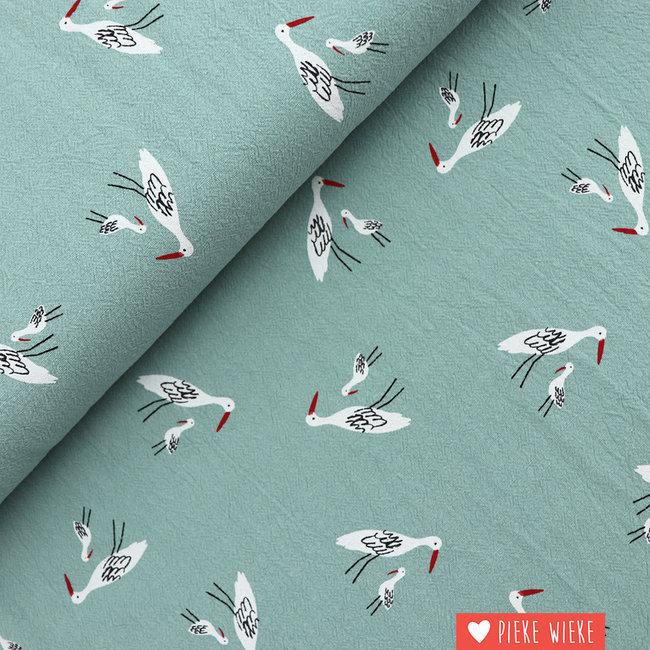 Katia Wrinkle cotton Stork Quartz mint