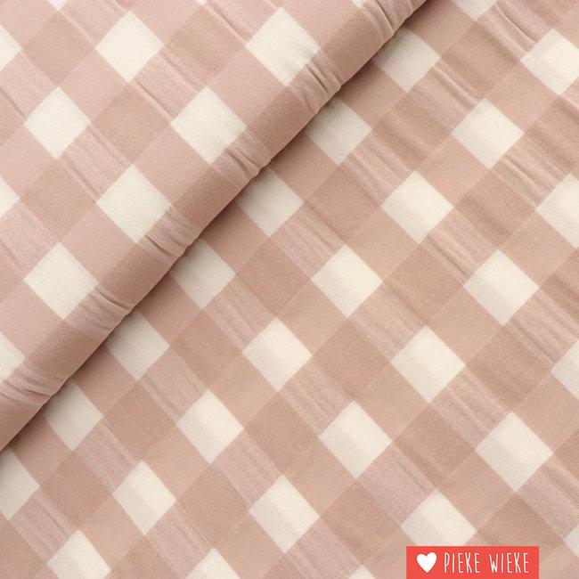 Katia Cotton big vichy Sand pink
