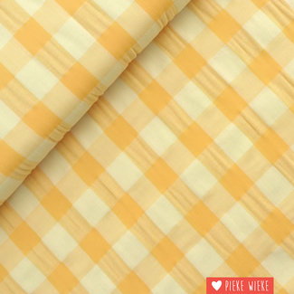 Katia Cotton big vichy Sand Yellow