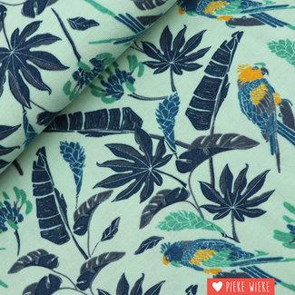 Bamboo jersey Sarah parrot Green