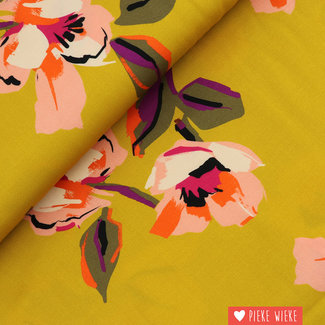 Viscose Incan gold flowers