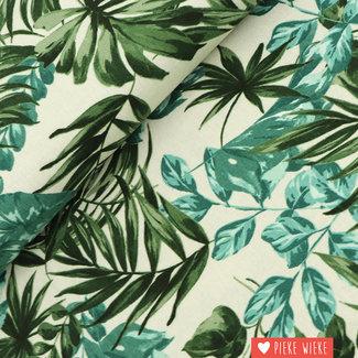 Linen blend Tropical Green
