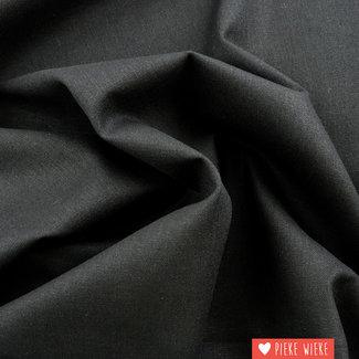 Recycled Mixed  linnen  Houtskool zwart