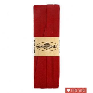 Elastische biais tricot Bordeauxrood