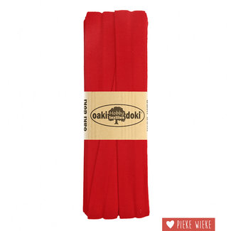 Elastische biais tricot Rood