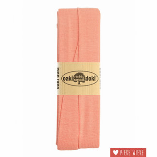 Elastische biais tricot Oud roze