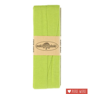 Elasticated tricot Lime