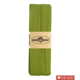 Elastische biais tricot  Khaki groen