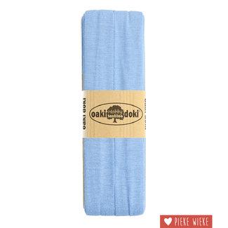 Elastische biais tricot  Lavendel blauw