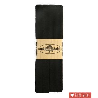 Elasticated tricot Black