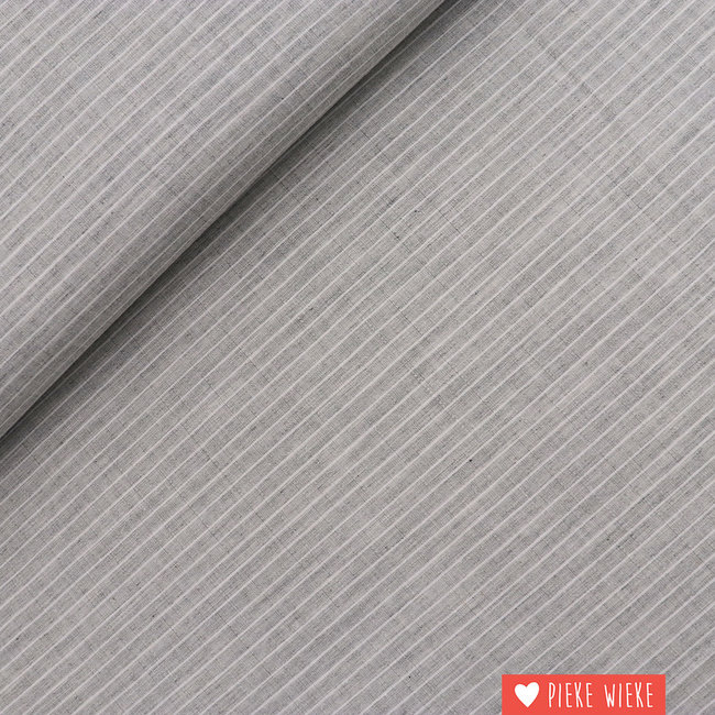 Cotton Check Light Grey