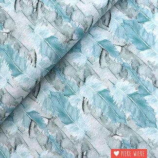 Free Spirit Cotton Bloom beautiful feathers blue