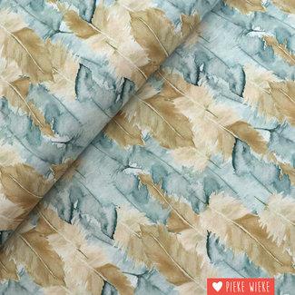 Free Spirit Cotton Bloom beautiful feathers beige