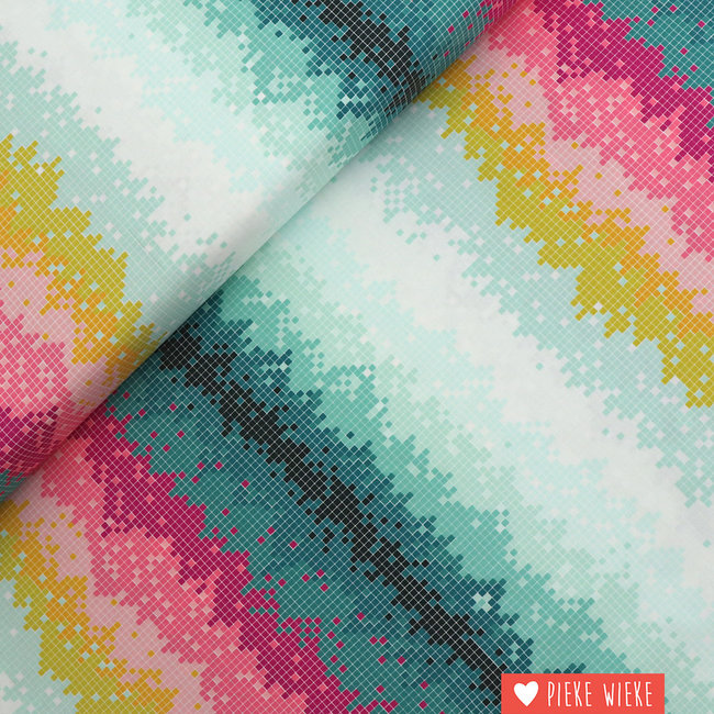 Art Gallery Cotton Colourful squares