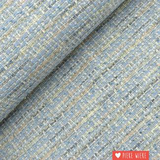 Bouclé with silver accent Light blue