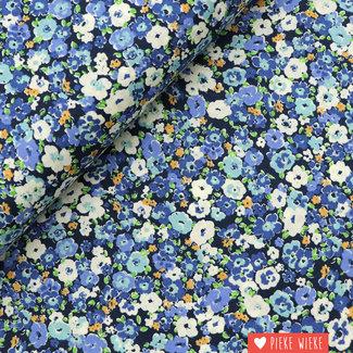 Kokka Fine Cotton Flowny Blue