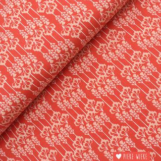 Cotton + Steel Cotton Daw glory Coral