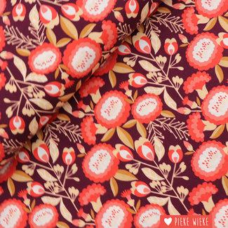 Cotton + Steel Katoen Isla Burgundy