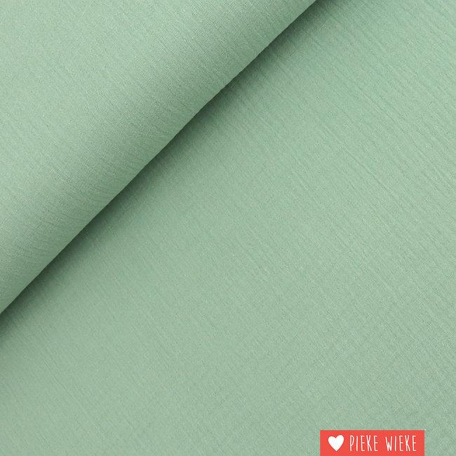 Fibre Mood Double gauze cotton Subtle green