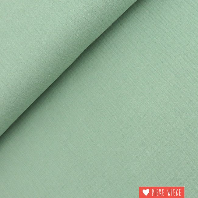 Fibre Mood Double gauze katoen Subtiel groen