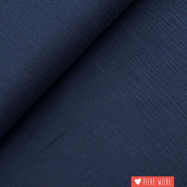 Fibre Mood Double gauze cotton Dark sapphire blue
