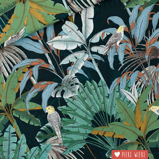 See You at Six Canvas katoen Jungle Green Gables